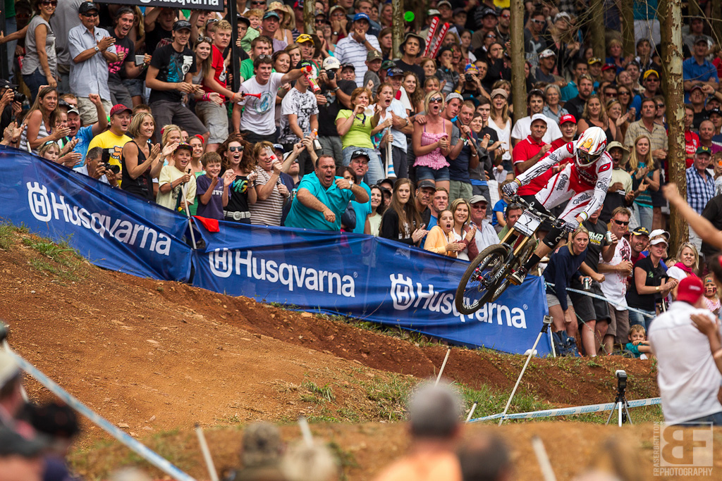 Greg Minnaar made up over 2 seconds in the last sections of the track at the Pietermaritzburg UCI World Cup DH