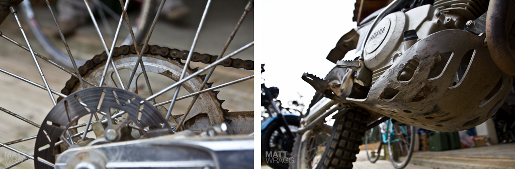 Details of the Yamaha Scorpar trials motorbike