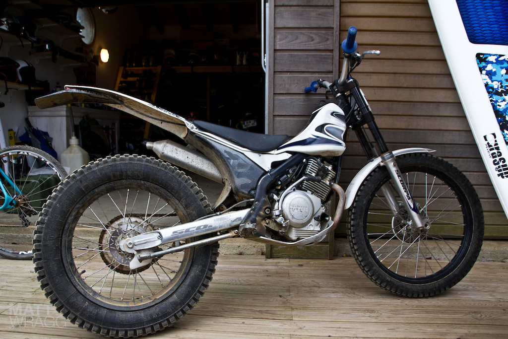 Yamaha Scorpar 250cc trials bike.