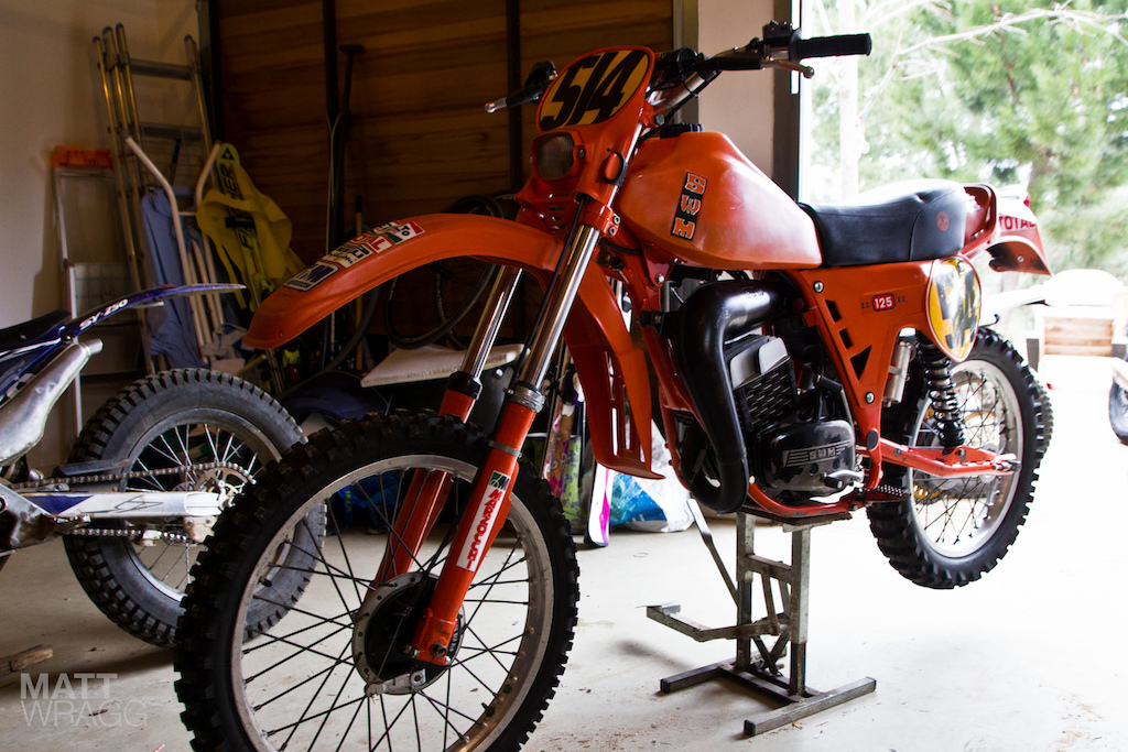 1981 SWM 125cc motocross bike.
