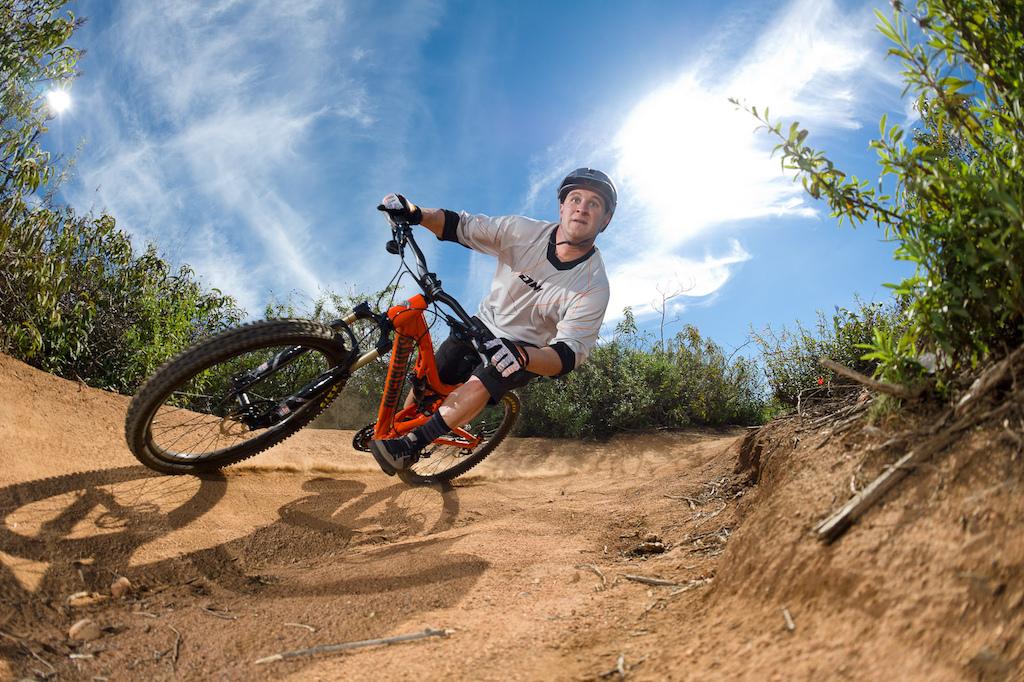 Chris Powell rides a Santa Cruz Butcher during the Pinkbike All Mountain Bike Shoot Out