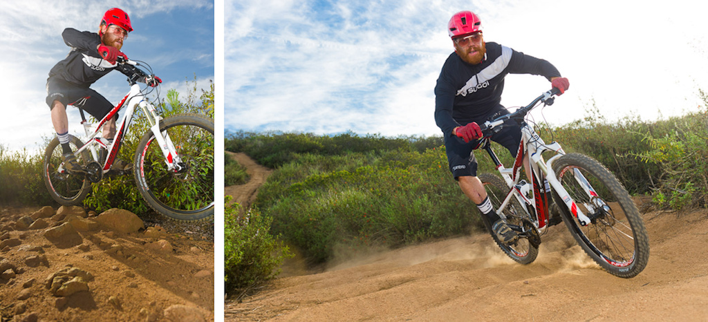 Ken Wood rides a Cannondale Jekyll during the Pinkbike All Mountain Bike Shoot Out