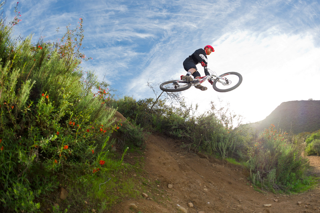 a88cdf4a225 Ken Wood rides a Cannondale Jekyll during the Pinkbike All Mountain Bike  Shoot Out