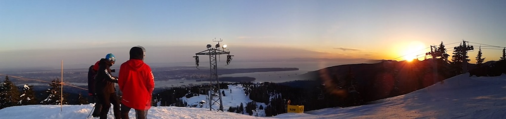 Sunset at Grouse Mtn.