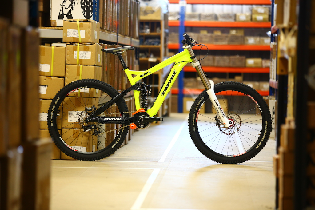 """See this bike in action this weekend at the Halo BDS The frame retails for £1099 7.5"""" travel 64"""" head angle  150mm rear  9lbs for the frame and shock  Rock Shox Vivid R2C coil shock"""