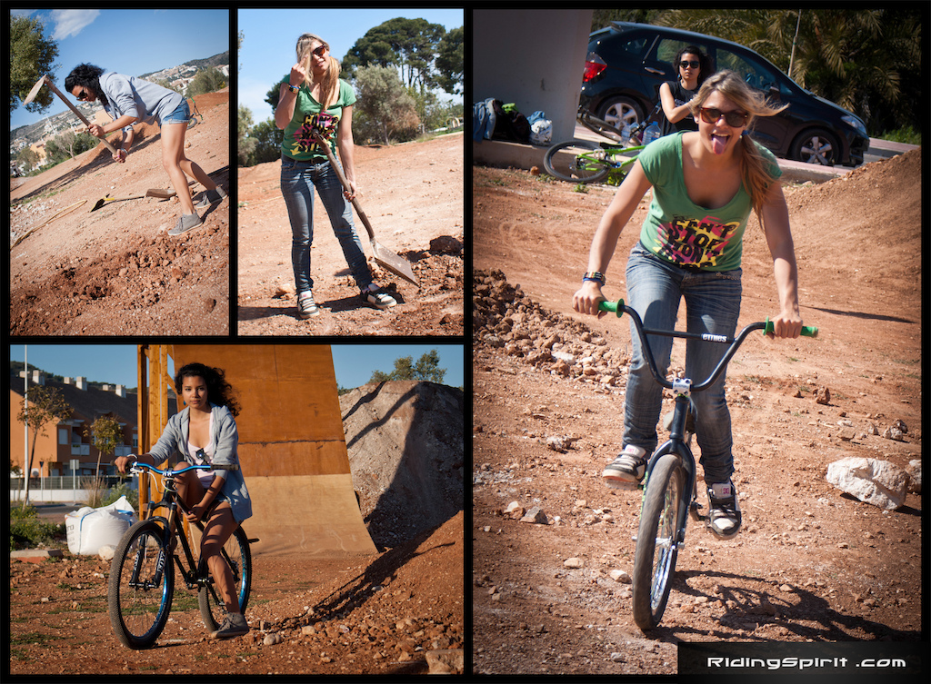 Who said that girls do not dig and ride?