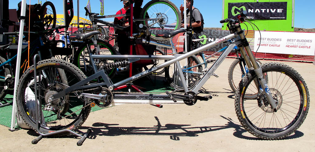 Bicycle Fabrication (SWD) had a funky looking tandem on hand.