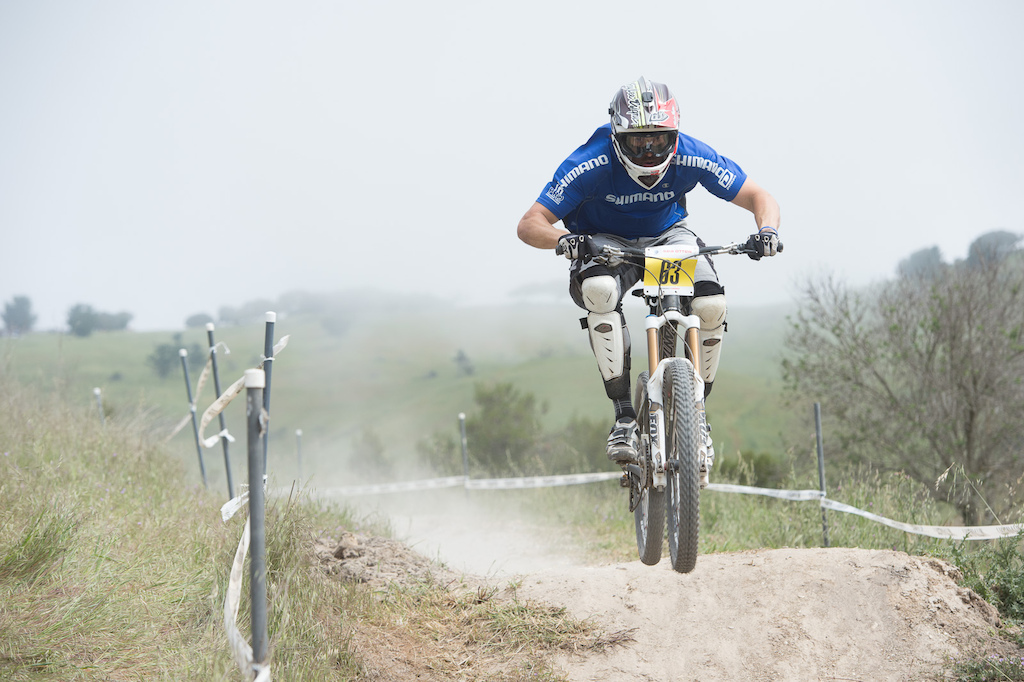 Joe Lawwill took some time off from Shimano duties to race the DH. He s still got it 25th place