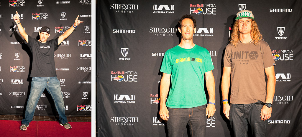Joe Lawwill Eric Porter and Kelly McGarry at the Strength in Numbers movie premier in Monterey.