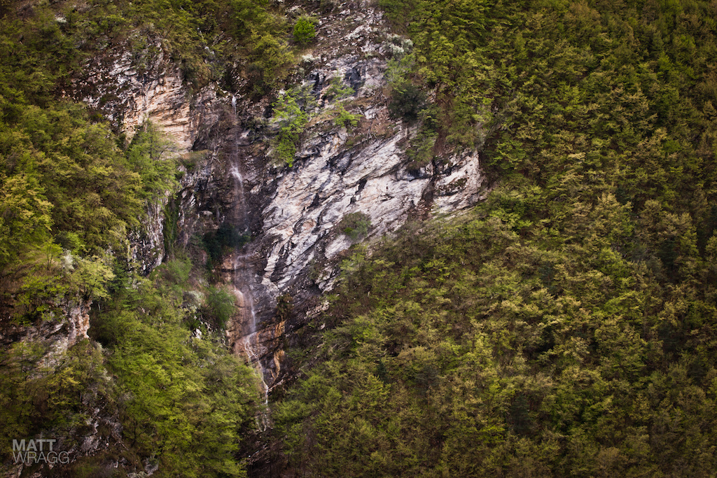 A waterfall in the High Argentina Valley.