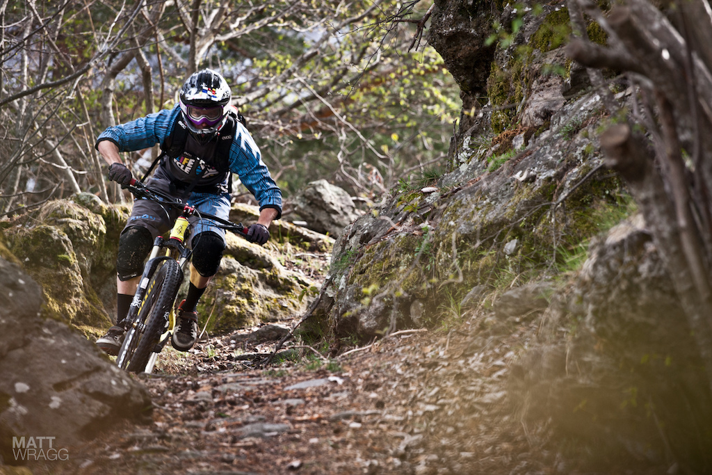 Manuel Ducci full gas in the woods.