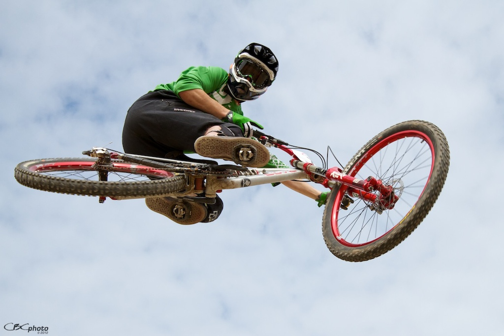 Harold hitting the KBR jumps on his DH bike