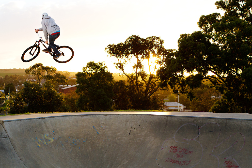 trying to steeze out of the bowl. Photo by Lachie Roycroft