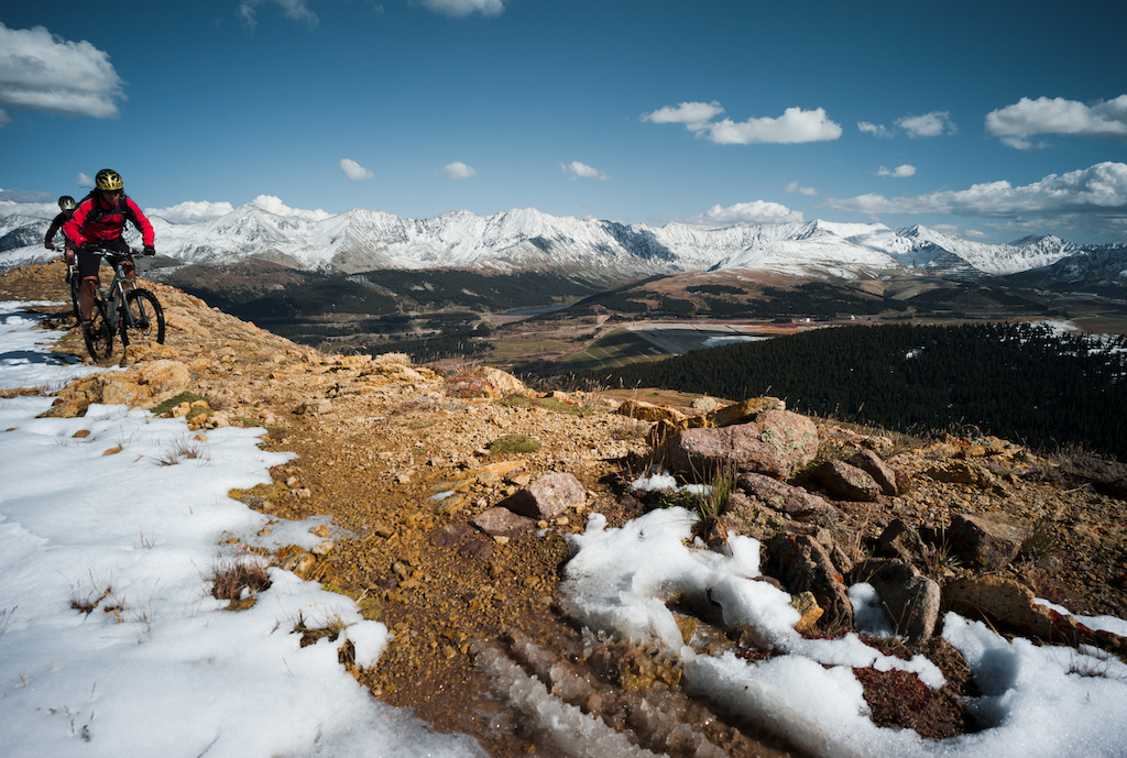 It s only september winter can wait. Heading towards the descent to Leadville. Photo by Dan Milner