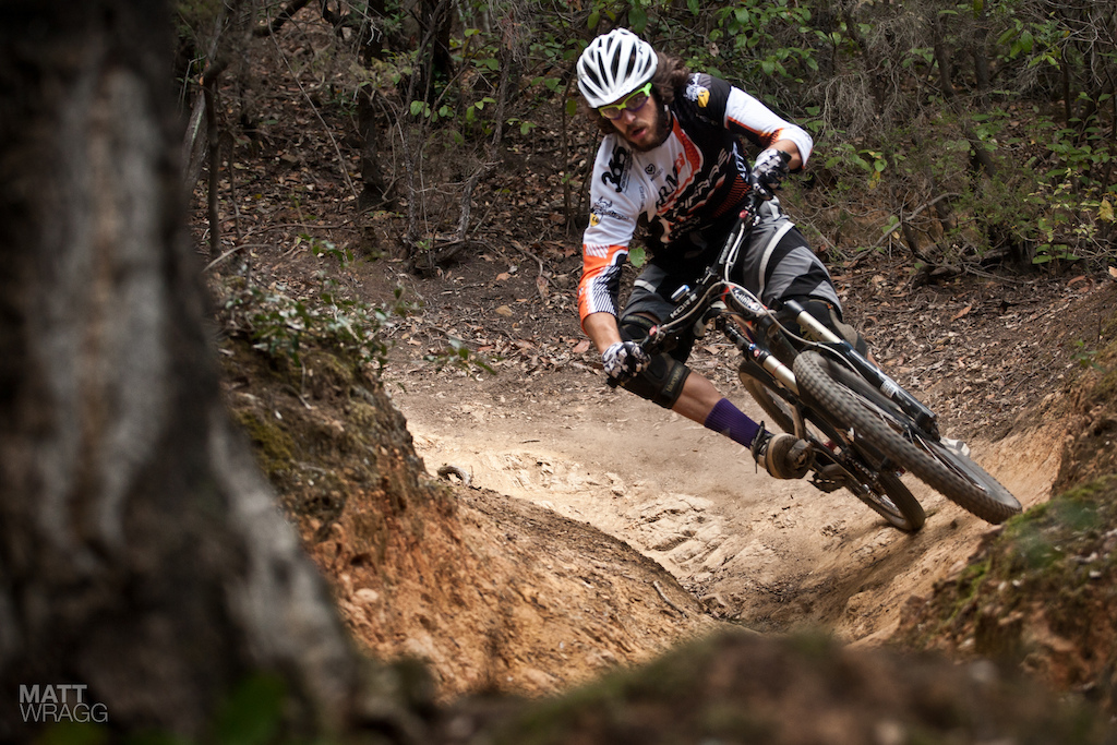 Andrea Pirazolli keeping out of the ruts on stage 2.