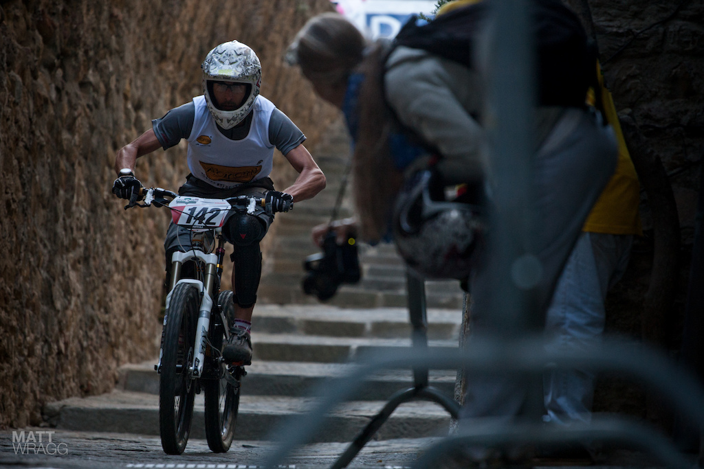 One of the Vibram riders competing for a place at the Natural Games in Millau.