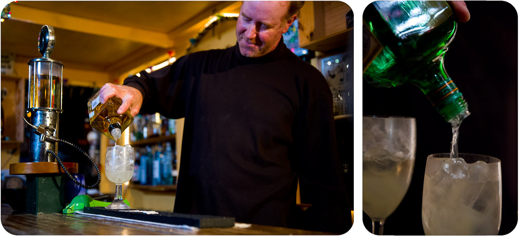 Neil mixes up perfect margaritas every night at Punta San Carlos.