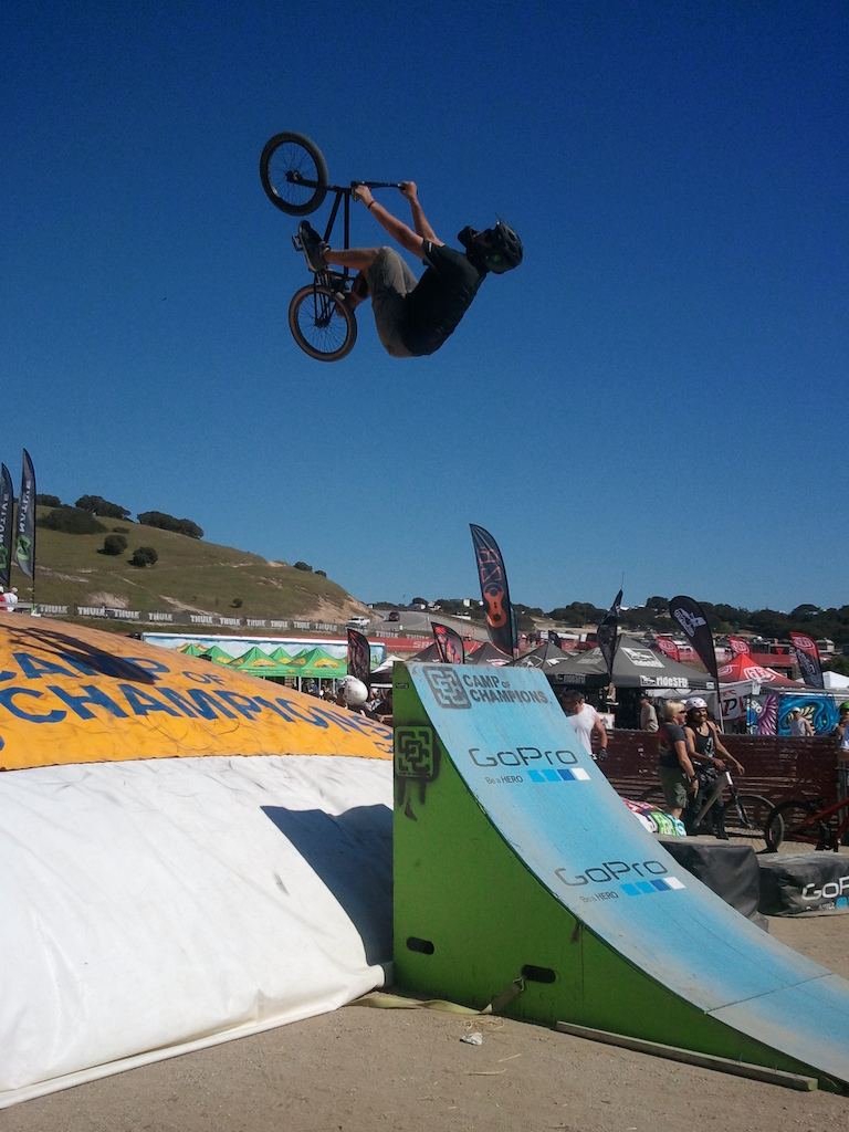 2nd backflip attempt to front wheel