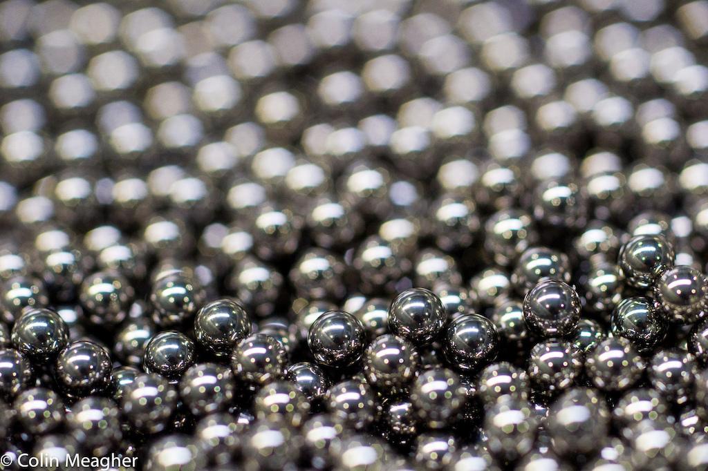 The magic in the matrix Precision hardened bearings.