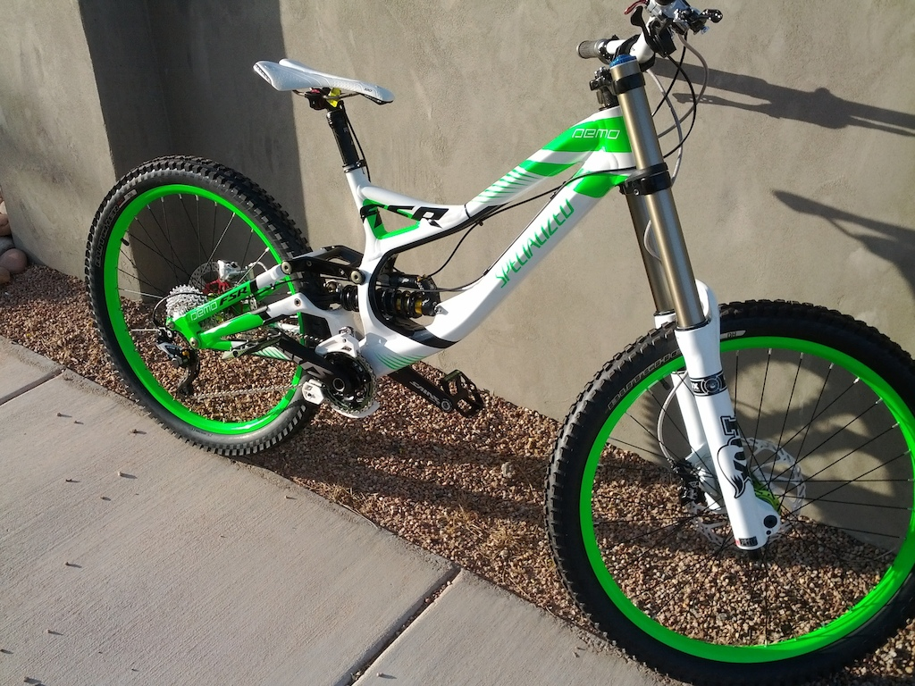 Custom Demo 8 II Designed by Trevor Milton and Kelly Taylor. Painted by Troys Custom in Ivins, UT and put together by Red Rock Bike Shop in St. George, UT. 