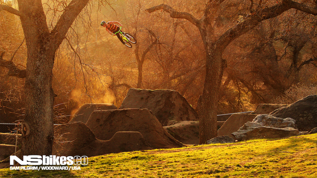 Time for the next NS Bikes wallpaper and this time it's Sam Pilgrim sending it in Woodward West, California during his recent USA trip.