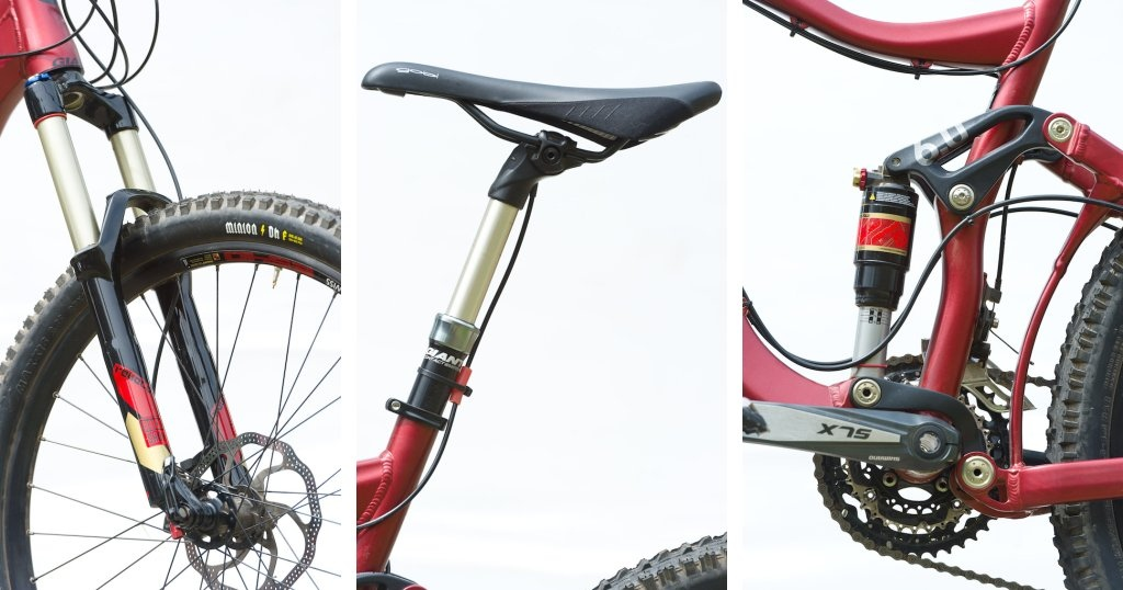 Rockshox fork Giant dropper post Maestro suspension