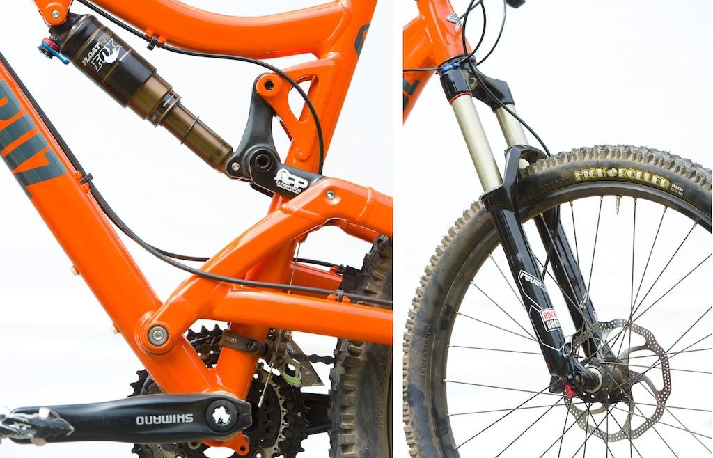 APP suspension Fox RP23 SHock and RockShox Revelation Dual Air fork