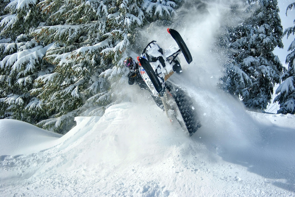 Ross Robinson at snowmobiling 3 creeks in Sisters, Oregon, United
