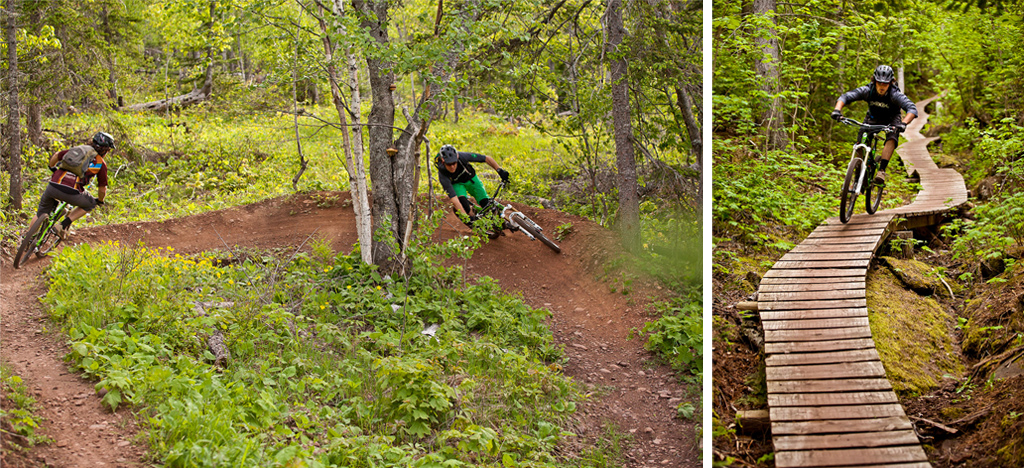 AaronRogers and Andrew Shandro riding in Copper Harbor
