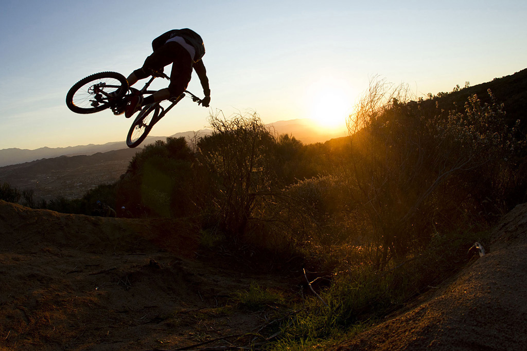 Aaron Gwin prototype testing Shimano Saint in Temecula Califonia February 2012.
