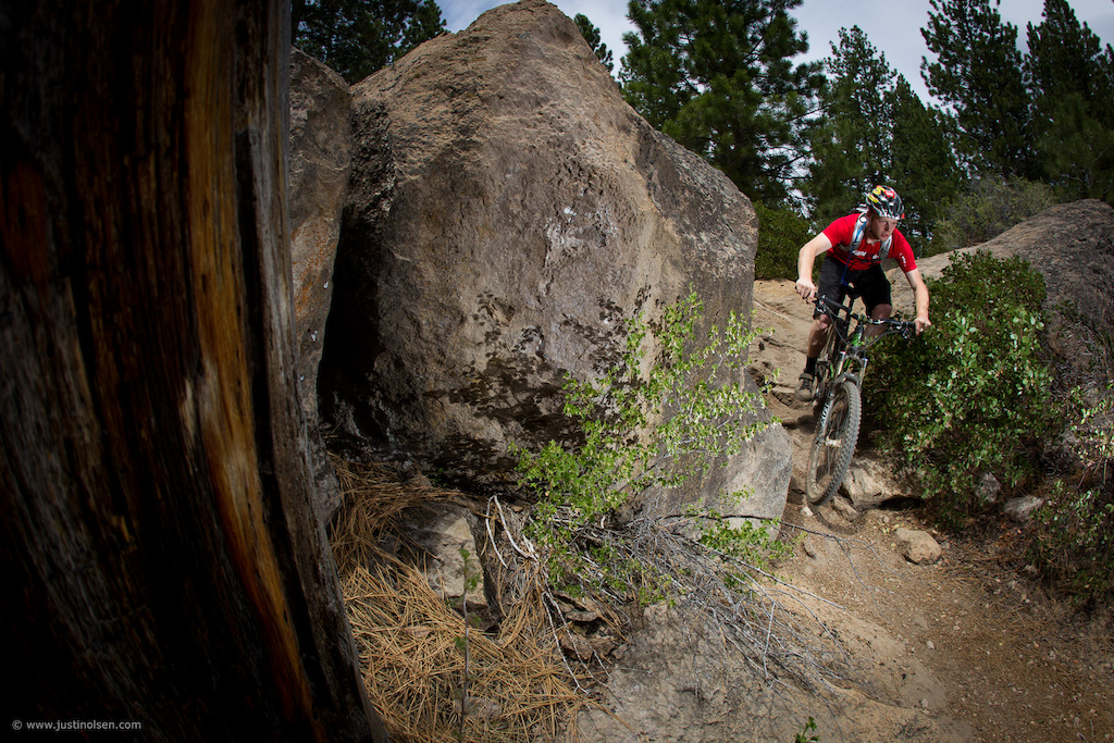 The River Trail in Bend is a classic. No matter what type if riding your prefer to do the River Trail will leave you smiling. Kyle Thomas sheds the DH gear to test out the 2013 Diamondback Mission all-mountain destroyer.