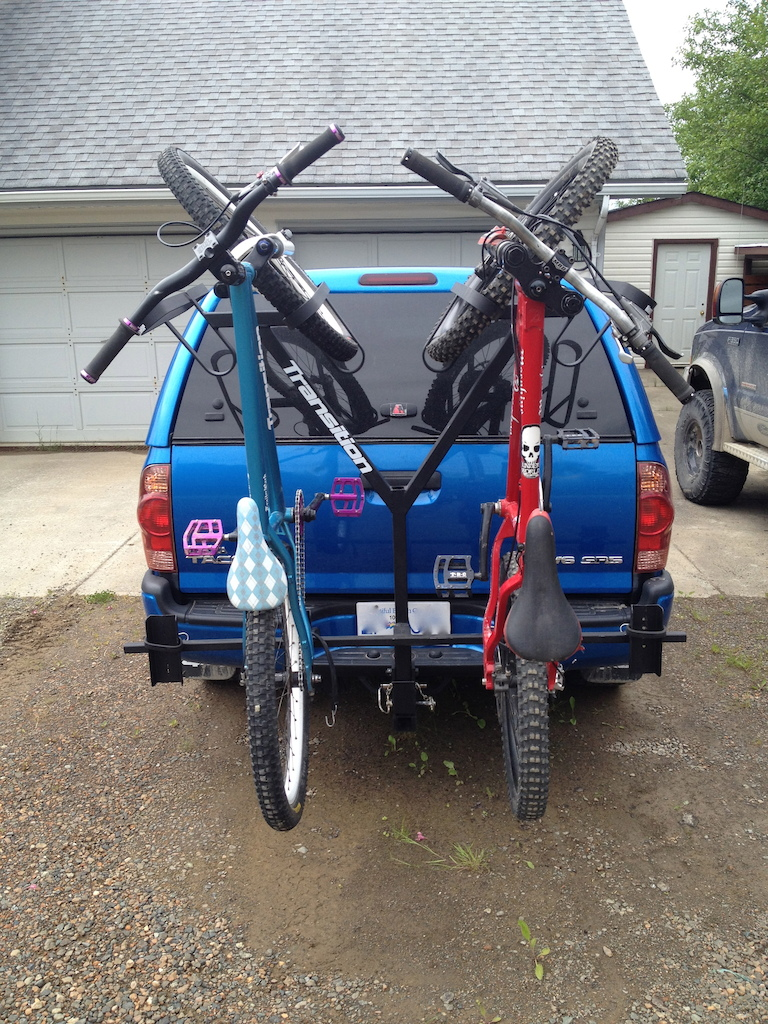 Home made bike rack.