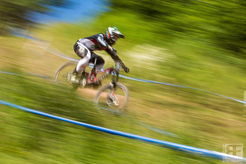 Sam HIll is going so fast it s hard to keep him in focus. Engage.