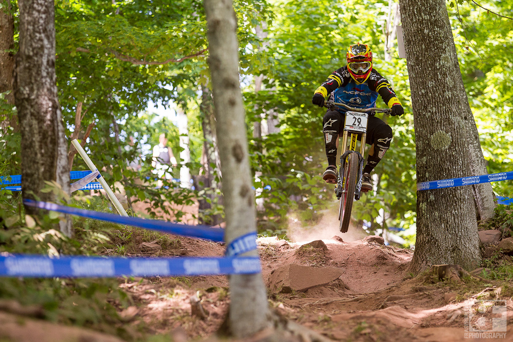 Bryn Atkinson dives into the trees here in Windham. He put in a few extra runs this week and it s paying off. Bryn isn t afraid to get loose so keep an eye on him Sunday when he lets loose.