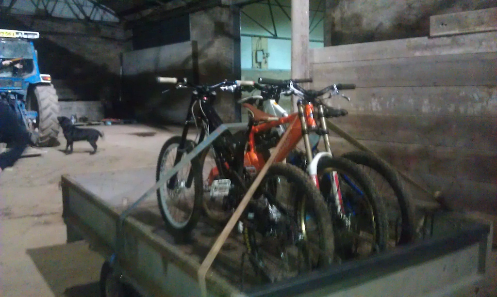 Home made detachable bike rack.