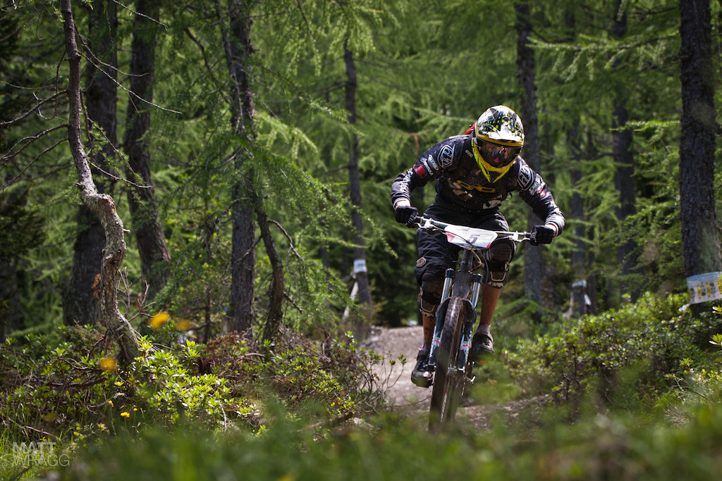 Vittorio heading into the woods on the stages.