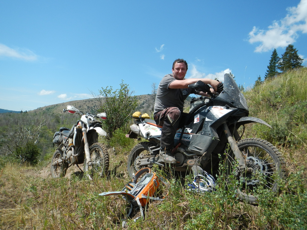 Took my 990 on a dirt bike ride with Jimmy Lewis.  That was tough trying to keep up