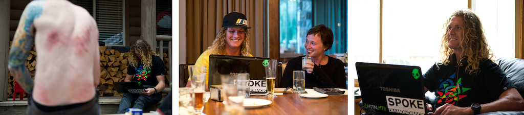 When not riding the Mcgazza keeps in touch with the Dingo via Skype. Here he posts a Twitter update about Tyler s backflop wow s the lady s at dinner and maintains that positive Kiwi attitude.