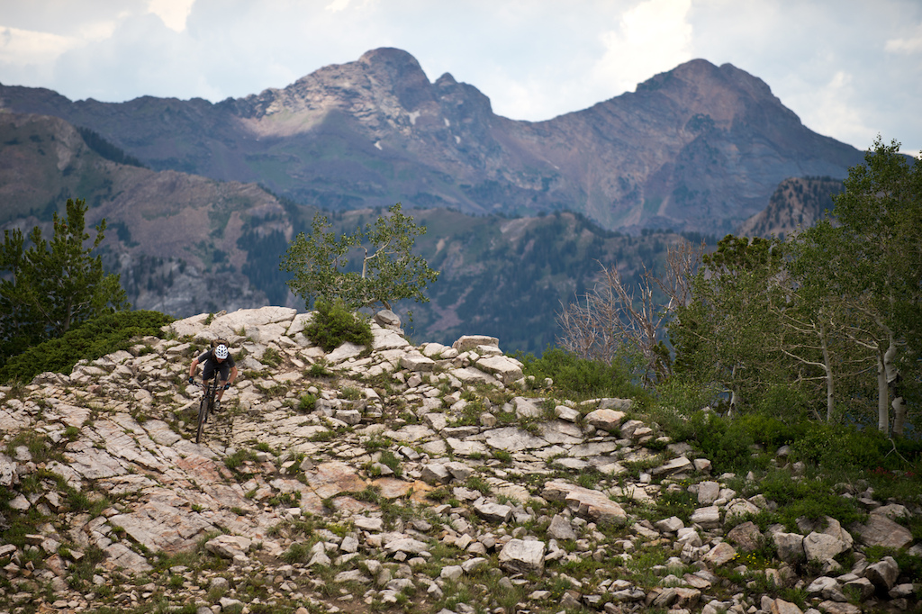 Pinkbike.com contest winner Ted rips some Park City singletrack at the 2013 Diamondback product launch