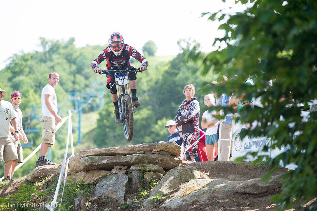Neko Mulally had really wanted to beat Gwin here and put in a lot of extra time on the course looking for every possible second. After his third place chainless qualifier it looked like finals might be a bit of a battle but it wasn t to be. Second place and 3 seconds behind Gwin.