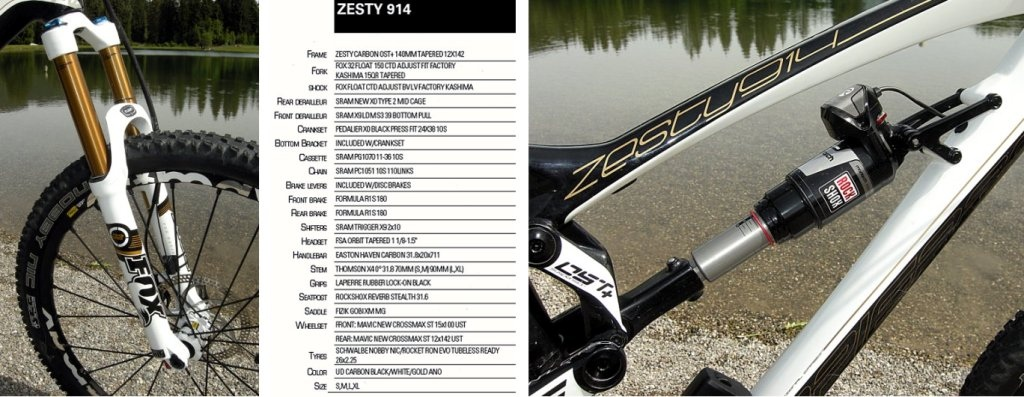 Lapierre 2013 Zesty 914 specs fox 32 for and e.i. Monarch shock