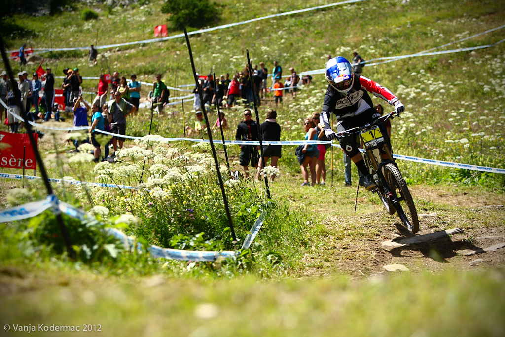 Rachel Atherton won by 1.487. We will have to wait until the last round in Norway for the overall winner.