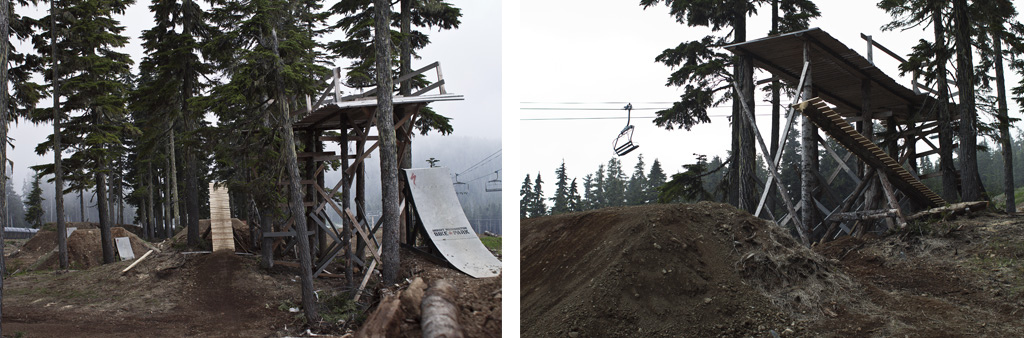 The new boner log sitting beside the step-up drop feature. This is where the pro and am lines divide.