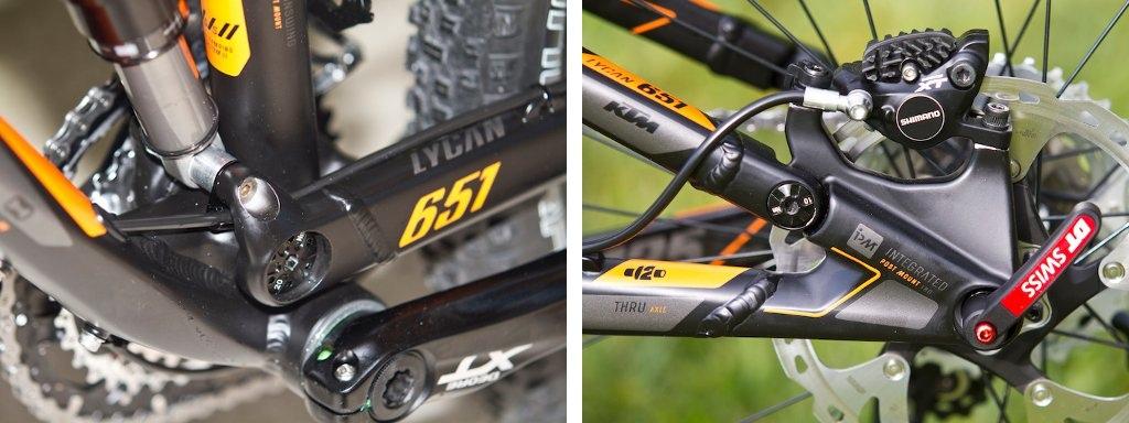 KTM Lycan 651 suspension and rear dropout details