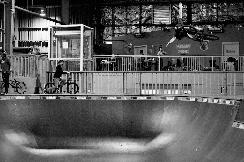 Large tuck air in the bowl. Chris kills it on a bmx, be it dirt street or park.