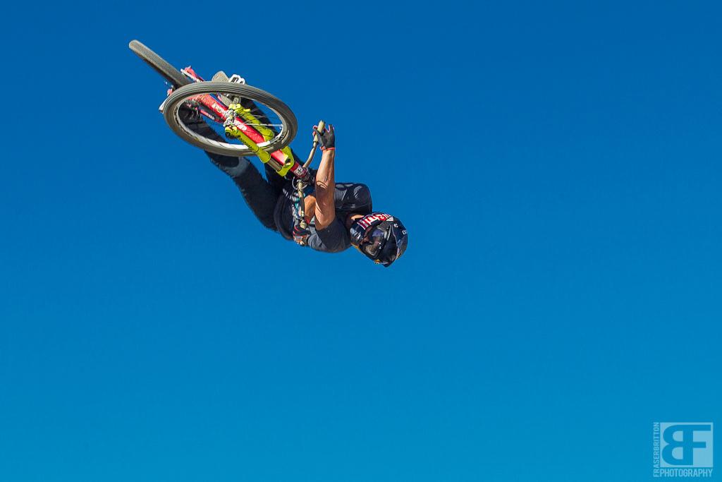 Andreu s stunt man Yannick Granieri throws down a big 360 x up.