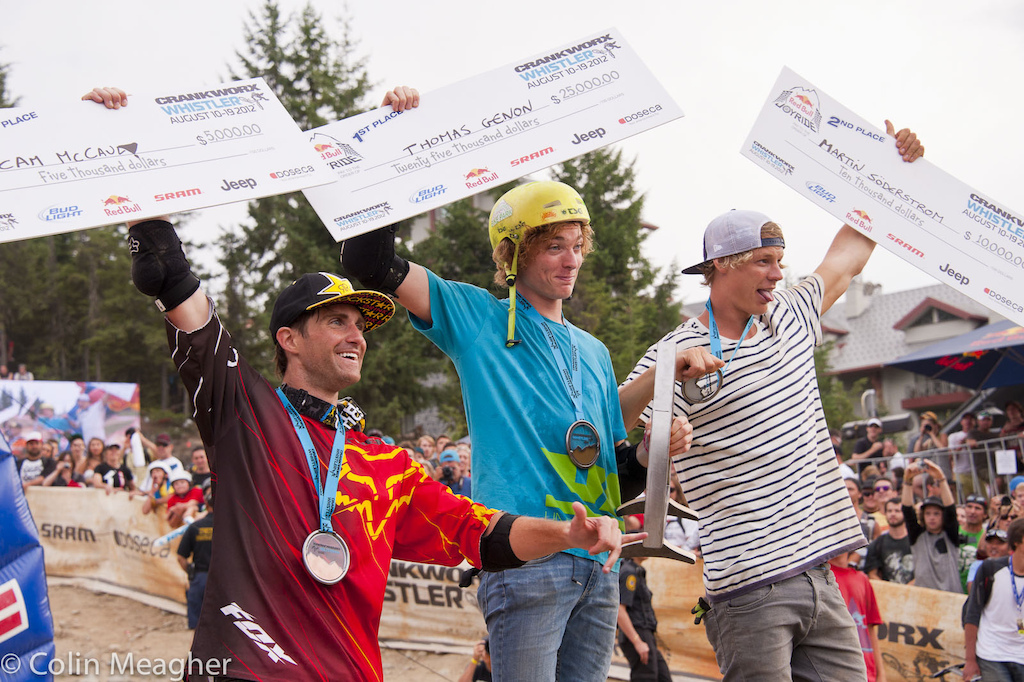 Cam McCaul third Thoman Genon FIRST and Martin Soderstrom second