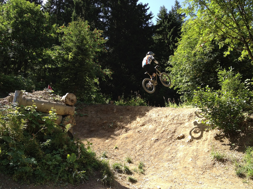 bigger step-up @ Fluid Trail in Chatel