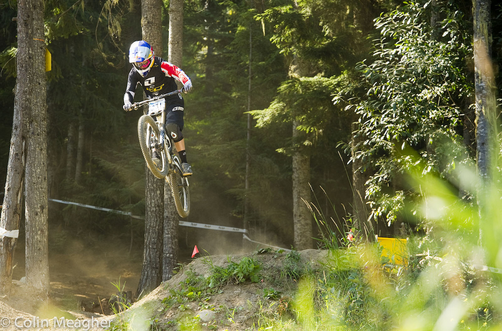 Rachel Atherton was in Whistler but kept the racing to a minimum focusing instead on a relaxed mindset for racing in Leogang. Given her technical handling and her ability to hammer the pedals the odds favor Rachel.