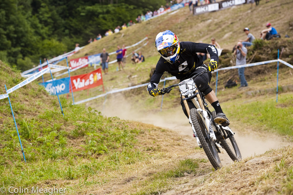 Gee Atherton has podiumed here at Leogang but never on the top step. However Gee is making this World Champs a priority he skipped out on Crankworx in Whistler--traditionally a bit of a vacation for the Atherton clan--in favor of training.
